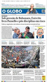 Capa do Jornal O Globo Edição 2021-06-04