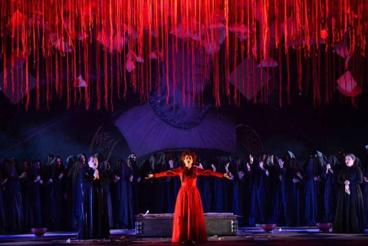 AA ópera Maria Stuarda foi apresentada como atração do Festival Amazonas de Óperafoi apresentada como atração do Festival Amazonas de Ópera