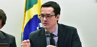 O procurador da República e coordenador da força-tarefa da Operação Lava Jato, Deltan Dallagnol, participa de audiência pública na Câmara dos Deputados (Zeca Ribeiro/Câmara dos Deputados)