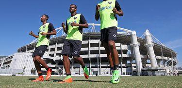 Treino do Botafogo no Estádio Nilton Santos