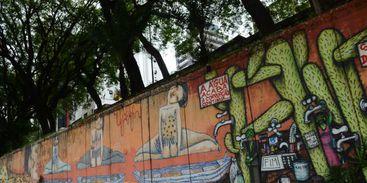 Antigos grafites da Avenida 23 de Maio