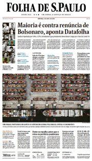 Capa do Jornal Folha de S. Paulo Edição 2020-04-05