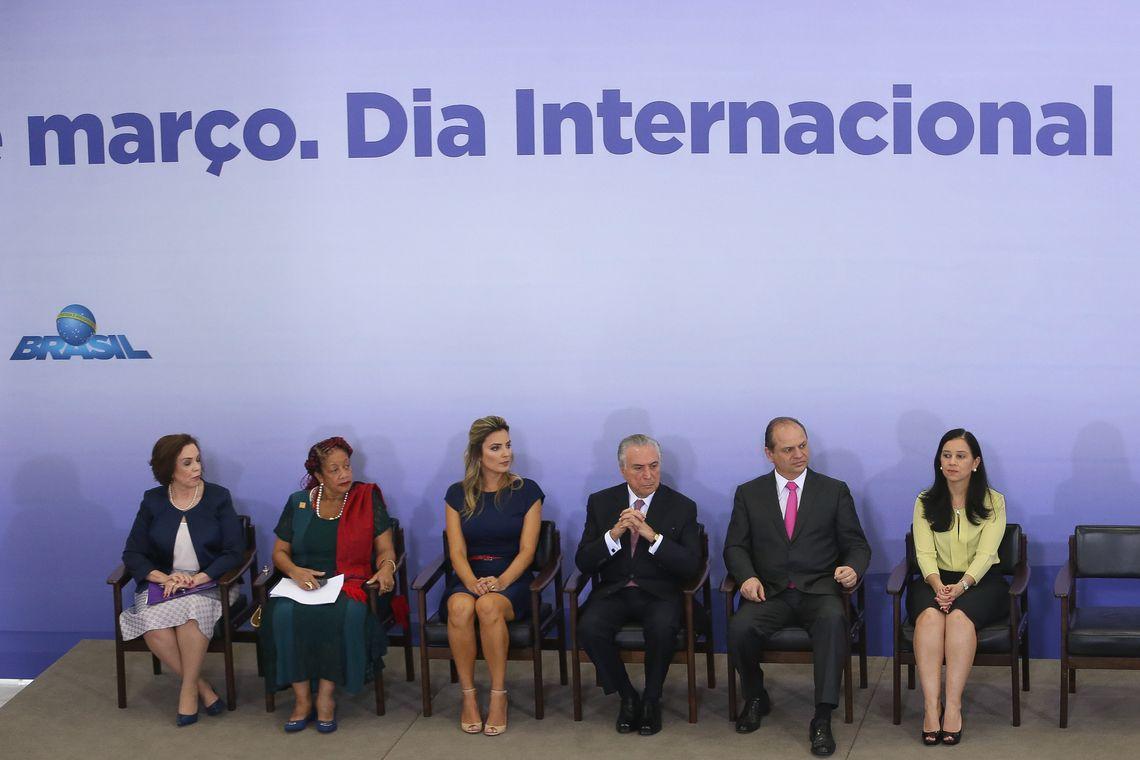 Brasília - Cerimônia de comemoração pelo Dia Internacional da Mulher, no Palácio do Planalto (Valter Campanato/Agência Brasil)