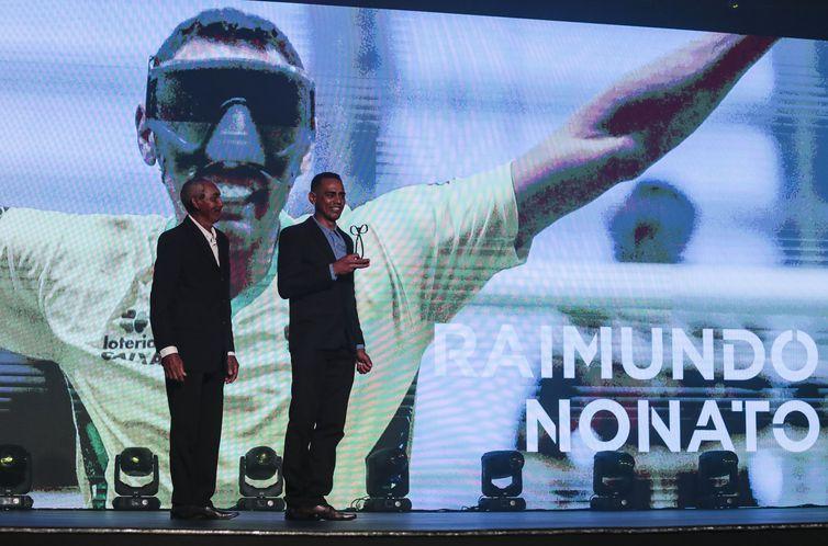 17.12.19 - Prêmio Paralímpicos. Evento realizado no Hotel Unique, em São Paulo, para premiar os melhores atletas do ano.  Raimundo Nonato, futebol de 5. Foto: Ale Cabral/CPB.