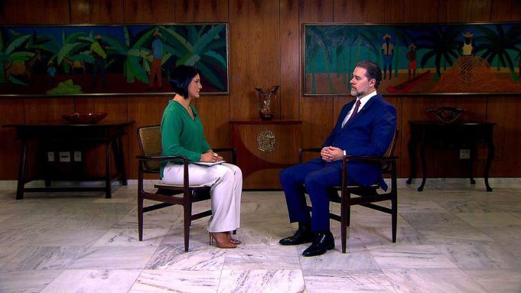 Ministro Dias Toffoli conversa com Roseann Kennedy