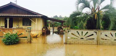 Chuva em Santa Catarina (Divulgação/Defesa Civil)