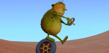Godofredo é um ogro verde e desajeitado