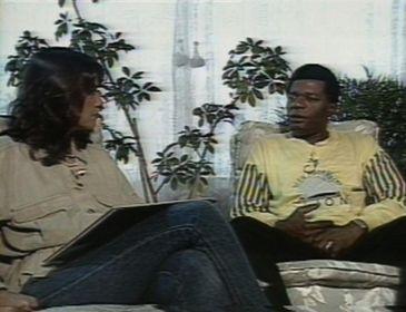 Almir Guineto com Cristina Prochaska em A Vida é um Show, em 1986