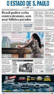 Capa do Jornal O Estado de S. Paulo Edição 2021-04-22