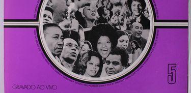 Capa de um dos LPs produzidos com as gravações exclusivas do programa MPB 100 ao Vivo