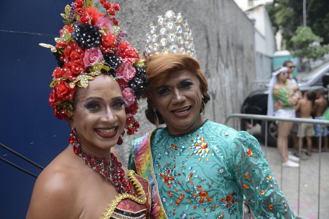 Rio de Janeiro - Bloco Banda das Quengas comemora 28 carnavais na Lapa (Fernando Frazão/Agência Brasil)