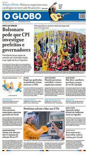 Capa do Jornal O Globo Edição 2021-04-12