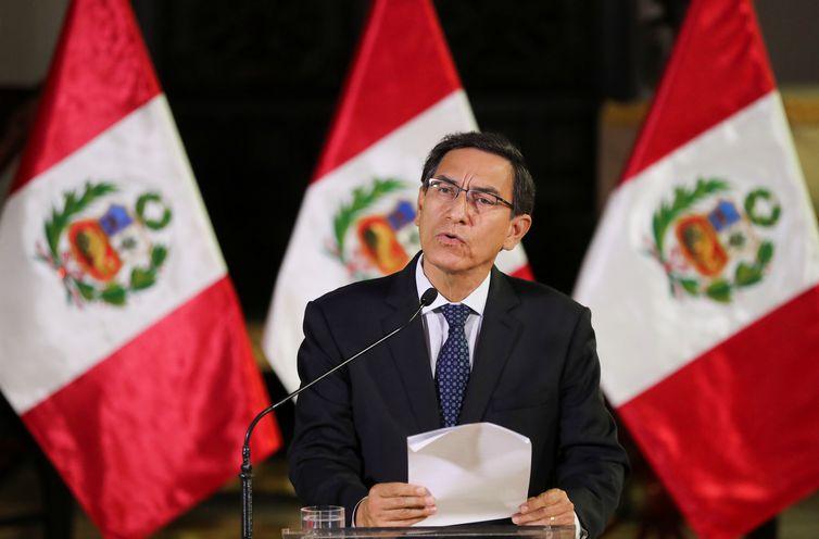 Presidente Vizcarra anuncia a dissolução  do Congresso peruano nesta segunda (1)