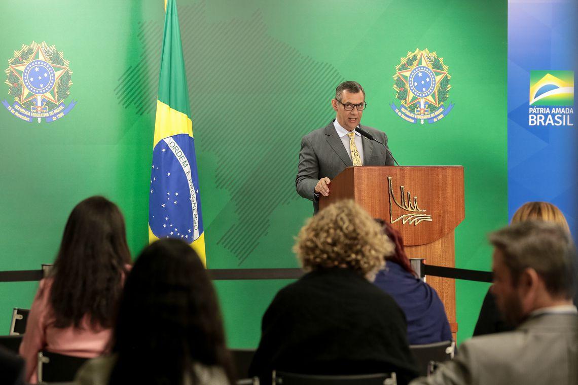 (Brasília - DF, 05/08/2019) Briefing do Porta-voz da Presidência da República, Otávio Rêgo Barros.