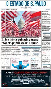 Capa do Jornal O Estado de S. Paulo Edição 2021-01-20
