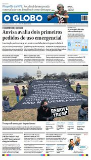 Capa do Jornal O Globo Edição 2021-01-09