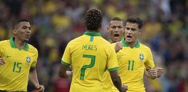 Brasil faz jogo amistoso contra a seleção de Honduras, no Beira-Rio, em Porto Alegre