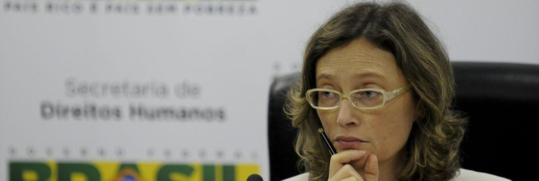A ministra dos Direitos Humanos, Maria do Rosário, durante abertrua de reunião da Conselho de Defesa dos Direitos da Pessoa Humana (CDDPH), da Secretaria de Direitos Humanos da Presidência da República (SDH/PR)