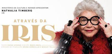 Nathalia Timberg vive ícone da moda Iris Apfel no teatro