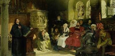 Martinho Lutero pregando no Castelo Wartburg