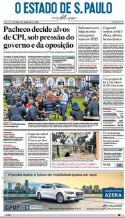 Capa do Jornal O Estado de S. Paulo Edição 2021-04-13