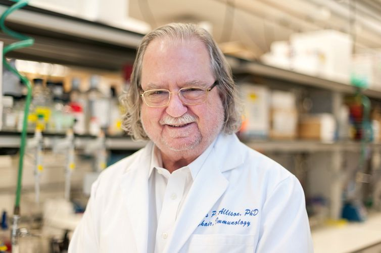 Ph.D. James P. Allison of MD Anderson Cancer Center at The University of Texas is seen in this picture obtained from MD Anderson Cancer Center at The University of Texas on October 1, 2018. MD Anderson Cancer Center at The University of Texas