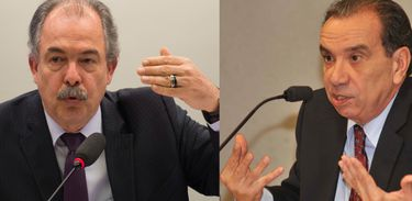 Ministro-chefe da Casa Civil, Aloizio Mercadante e senador Aloysio Nunes