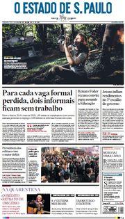 Capa do Jornal O Estado de S. Paulo Edição 2020-07-06