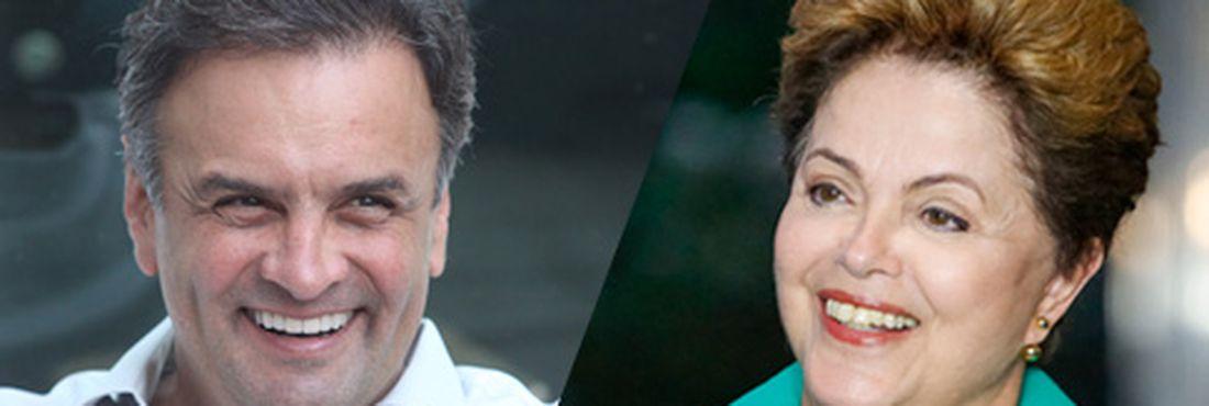 Candidatos à Presidência da República, Aécio Neves (PSDB) e Dilma Rousseff (PT)