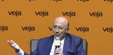 Henrique Meirelles, candidato à Presidência pelo MDB, durante sabatina promovida pela revista Veja, em São Paulo.