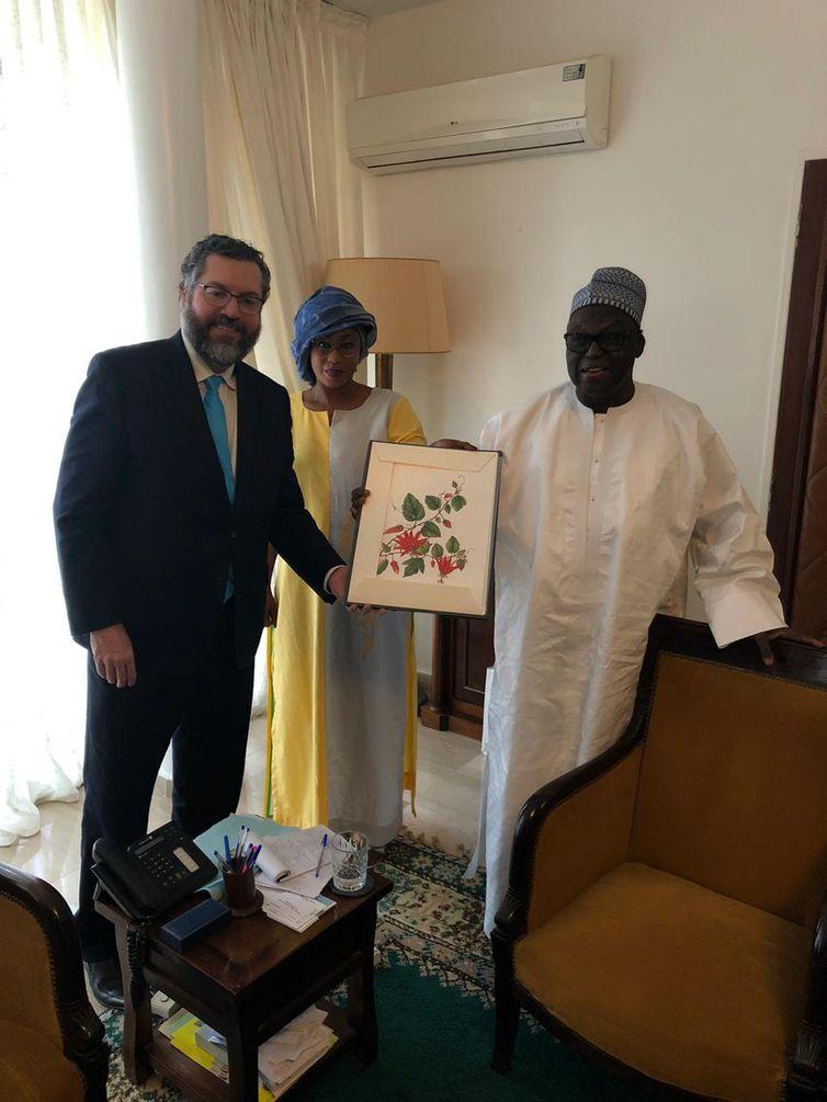 Encontro com o presidente da Assembleia Nacional do Senegal, Moustapha Niasse