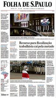 Capa do Jornal Folha de S. Paulo Edição 2020-09-21