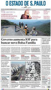 Capa do Jornal O Estado de S. Paulo Edição 2021-09-17
