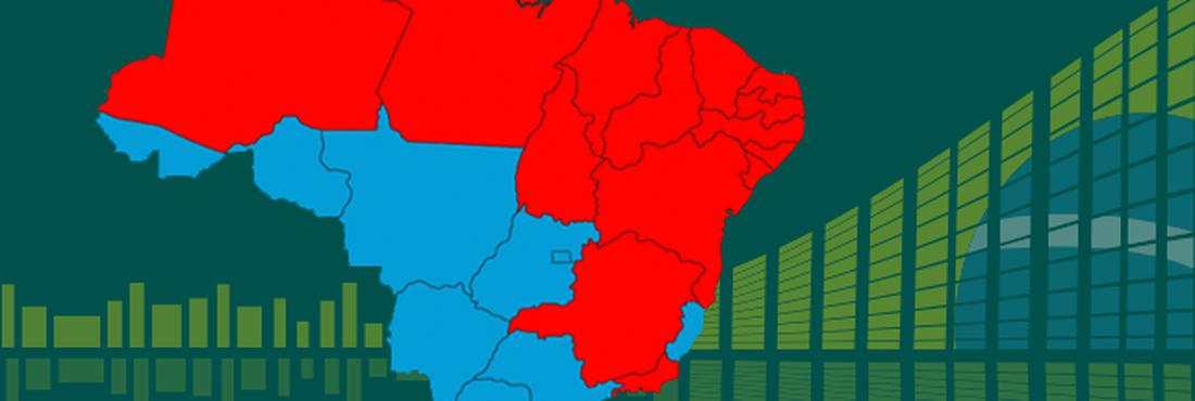 Mapa de votação para presidente por estado