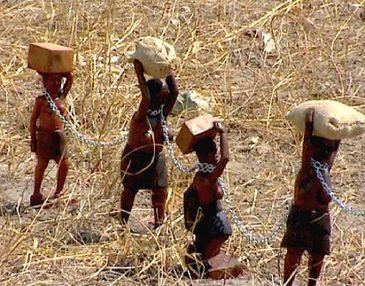 A rota dos escravos retrata um período terrível da história das colônias Portuguesas na África