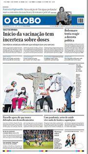 Capa do Jornal O Globo Edição 2021-01-19