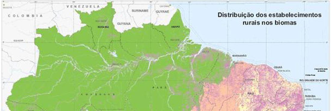 Biomas impactados pela agropecuária.