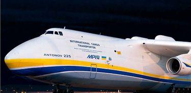 Maior avião do mundo, Antonov pousou no Brasil para buscar um gerador de 155 toneladas, fabricado em Guarulhos