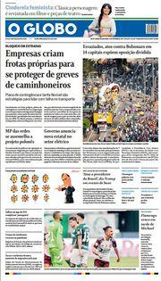 Capa do Jornal O Globo Edição 2021-09-13