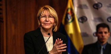Luisa Ortega Díaz, procuradora-geral da República da Venezuela, em entrevista coletiva