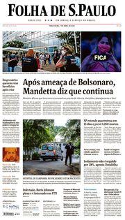 Capa do Jornal Folha de S. Paulo Edição 2020-04-07