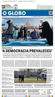 Capa do Jornal O Globo Edição 2021-01-21