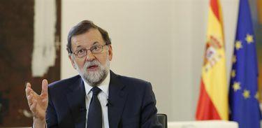Presidente do governo espanhol, Mariano Rajoy , fala sobre a situação da Catalunha
