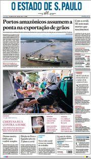Capa do Jornal O Estado de S. Paulo Edição 2021-04-11