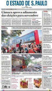 Capa do Jornal O Estado de S. Paulo Edição 2020-07-02