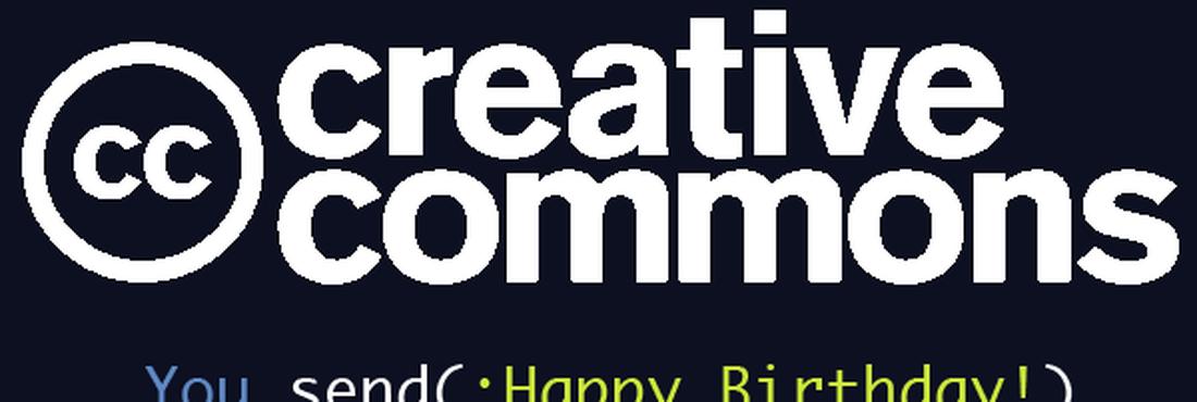 imagem comemorativa 10 anos creative commons