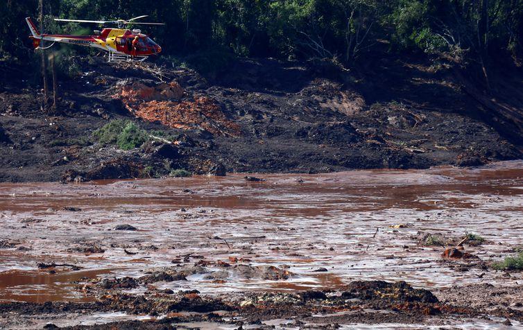 - Área atingida pela lama da barragem que se rompeu em Brumadinhio -  strong Adriano Machado/Reuters/Direitos Reservados /strong