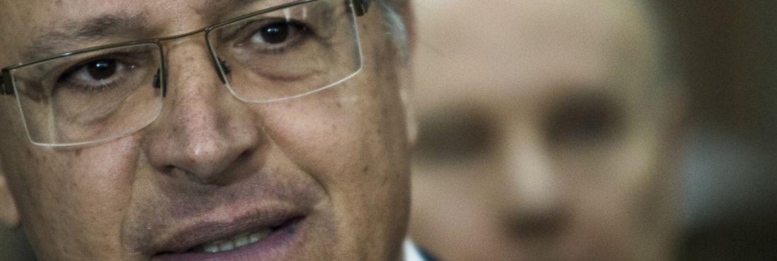 O governador Geraldo Alckmin