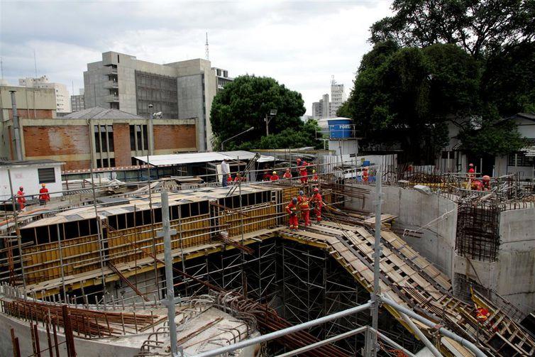 Obras da Linha 4-Amarela do Metrô de São Paulo (Divulgação/Metrô SP)