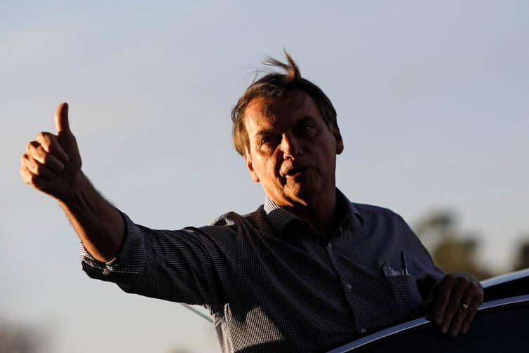 O presidente Jair Bolsonaro chegou na tarde desta segunda-feira (16) ao Palácio do Alvorada, residência oficial, após ter recebido alta, mais cedo, do Hospital Vila Nova Star